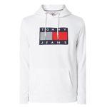 Tommy Jeans Hoodie mit Logo-Aufnäher in Offwhite, Hellgrau oder Schwarz für 71,99€ (statt 120€)