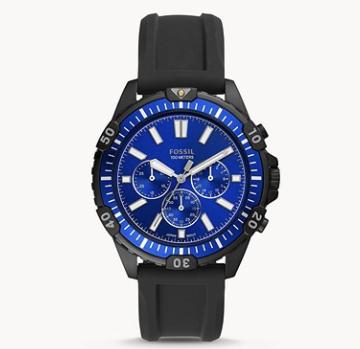Fossil Garrett Herren Chronograph mit Silikon Armband für 45,50€(statt 129€)