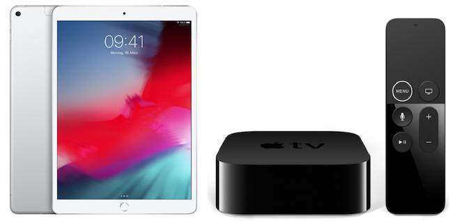 Ausverkauft! Apple iPad Air (2019) 256GB LTE + Apple TV 4K 32GB für 699€(statt 998€)