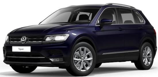 Taxi/Mietwagen Gewerbe: VW Tiguan 2.0 TSI 4Motion mit 190 PS für 61,34€ mtl. netto   LF: 0.17