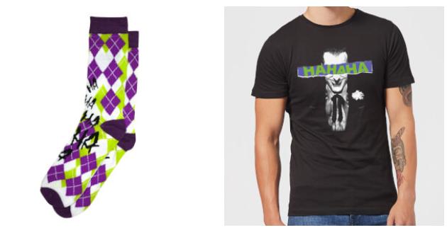 Batman Joker The Greatest Stories T Shirt + Joker Socken für 8,99€ (statt 16€)