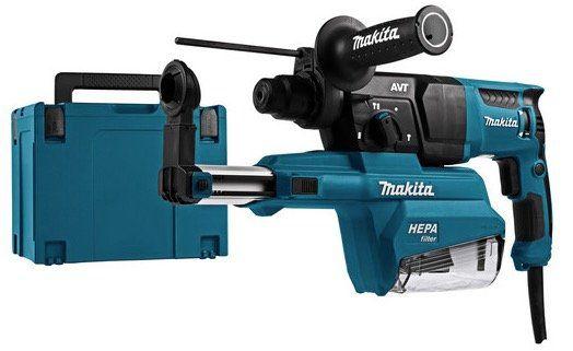Ausverkauft! Makita HR2651J SDS+ Bohrhammer mit Staubabsaugung für 165,90€ (statt 252€)