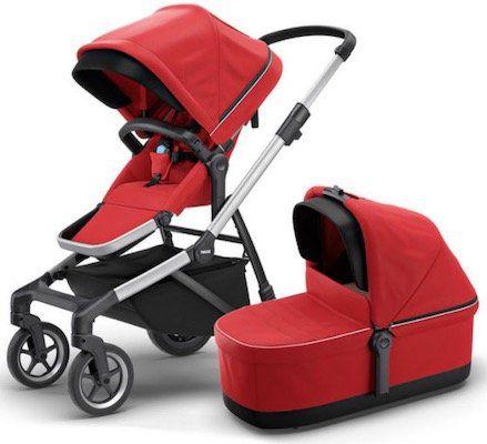 Thule Sleek Kombikinderwagen mit Babywanne in Rot für 573,29€ (statt 995€)
