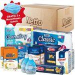 Netto Notfall-Paket: Zucker, Mehl, Reis, Pasta, Milch, Klopapier und Flüssigseife für 24,95€ + 2x Mundschutz