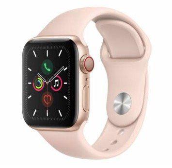 Apple Watch Series 5 LTE 40mm Gold sandrosa für 484,80€ (statt 537€)