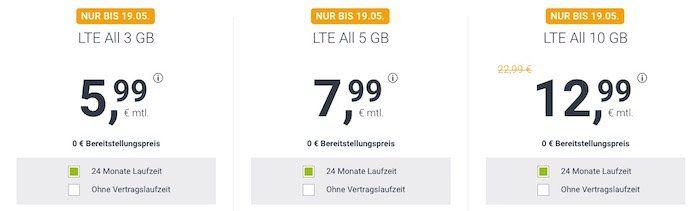 Allnet Flat im O2 Netz von winSIM mit 3GB LTE für 5,99€mtl. + 10€ Wechselbonus
