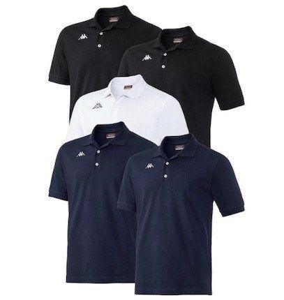 5er Pack Kappa Poloshirts im Mischpack für 63,99€ (statt 80€) + Bernwald Fernglas gratis