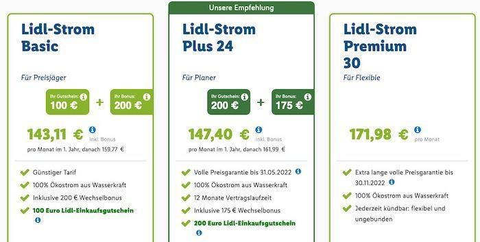 Über Lidl zu e.on 100% Ökostrom wechseln   bis 250€ Wechselbonus und 200€ Lidl Gutschein