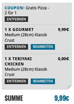 Dominos: Zwei Pizzen kaufen nur eine bezahlen bei Abholung   nur noch heute!