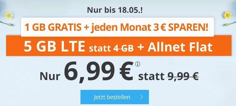 Endet heute: Sim.de o2 Allnet Flat mit 5GB LTE für 6,99€ oder 8GB für 9,99€   auch monatlich kündbar
