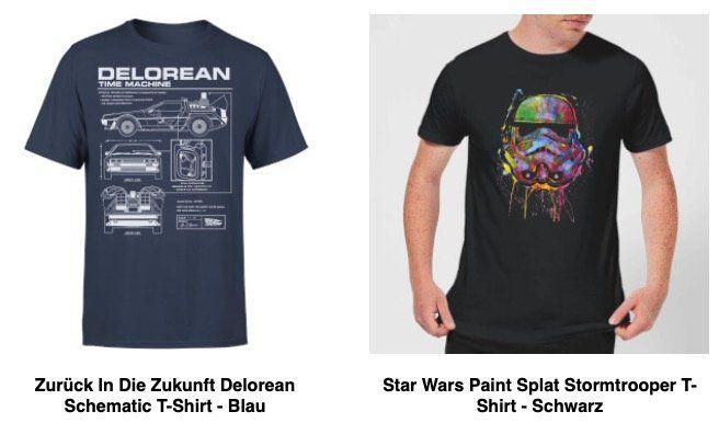 2er Pack Motiv T Shirts (Zurück in die Zukunft, Star Wars uvm.) für 19,99€ (statt 33€)