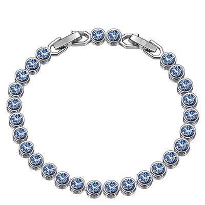 """Susan Y Armband """"Ozean"""" mit blauen Swarovski-Steinen für 8,99€ (statt 27€) – Prime"""