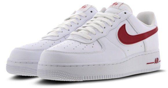 Vorbei! Nike Air Force 1 Low Herren Sneaker in Weiß Rot für 59,99€ (statt 99€)   Restgrößen