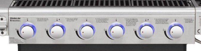 El Fuego Deluxe Edelstahl Gasgrill mit LED und 6+1 Brennern für 254,99€ (statt 425€)