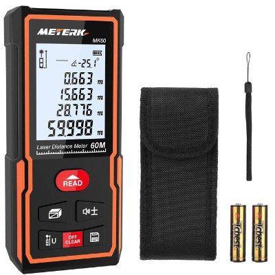 Meterk Laser Entfernungsmesser MK60 staub  & wasserdicht für 20,29€ (statt 29€)