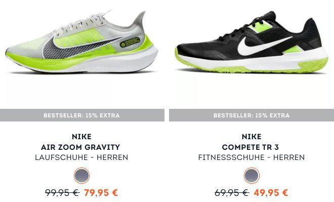 SportScheck: 15% Rabatt auf Bestseller   z.B. Nike Varsity Compete TR 3 für 46,41€ (statt 56€)