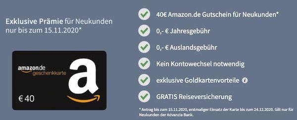 Endet heute: PayVIP Mastercard Gold (dauerhaft gebührenfrei) inkl. Reiseversicherung + 40€ Amazon Gutschein