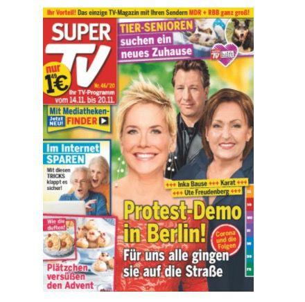 52 Ausgaben Super TV für 72,80€ + 55€ Verrechnungsscheck