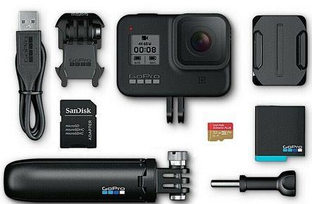 GoPro HERO8 Black Bundle inkl. Shorty Stativ, Speicherkarte und 2. Akku für 319€ (statt 349€)