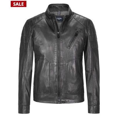 JOOP! Collection Lederjacke Peel im Biker Look in Schwarz für 279,95€ (statt 400€)   52 bis 56