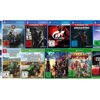 2 Spiele kaufen + 1 Spiel geschenkt bei MediaMarkt – auf PS4, Xbox und Nintendo Switch