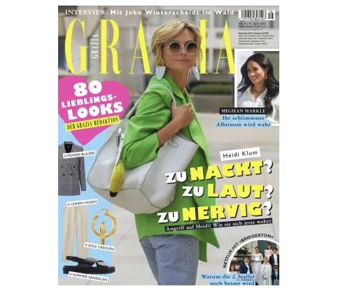 26 Ausgaben Grazia für 85€ + Prämie: 85€ BestChoice Gutschein