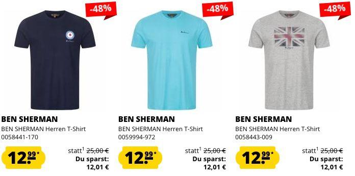 Ben Sherman Mega Sale bei SportSpar   z.B. Badelatschen 5,55€ oder T Shirts 12,99€