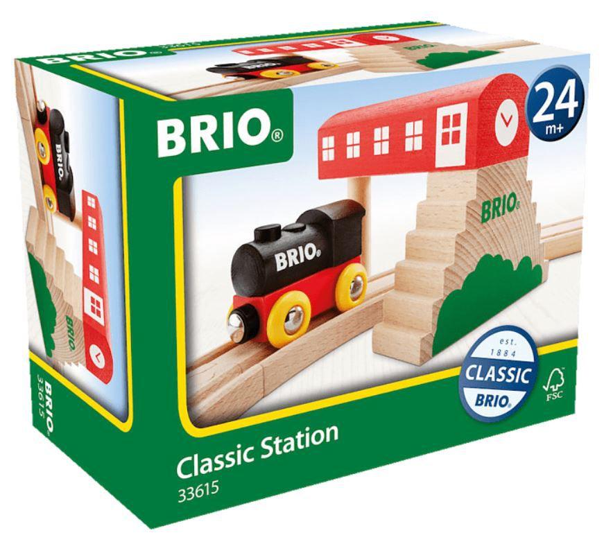 BRIO Classic Holzeisenbahn Bahnhof für 12,99€ (statt 22€)
