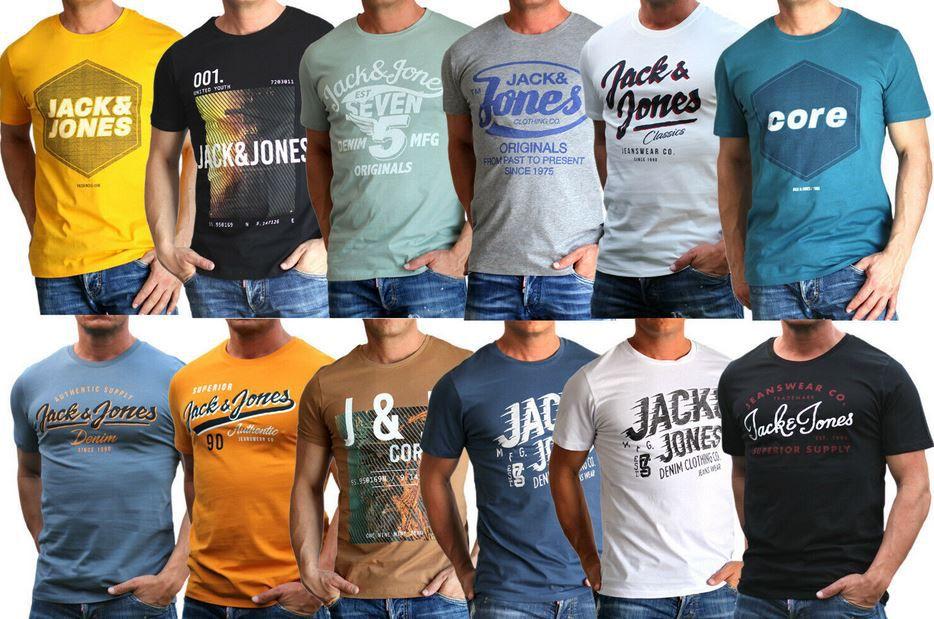 Jack & Jones Herren T Shirts Restgrößen bis 3XL für je 8,99€ (statt 13€)