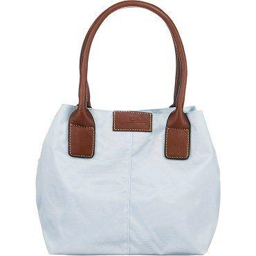 TOM TAILOR Miri Damen Shopper Handtasche in grün und blau für 13,90€ (statt 21€)