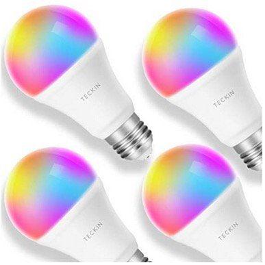 4er Set Teckin Smart RGB LED Birnen für 29,99€ (statt 47€)
