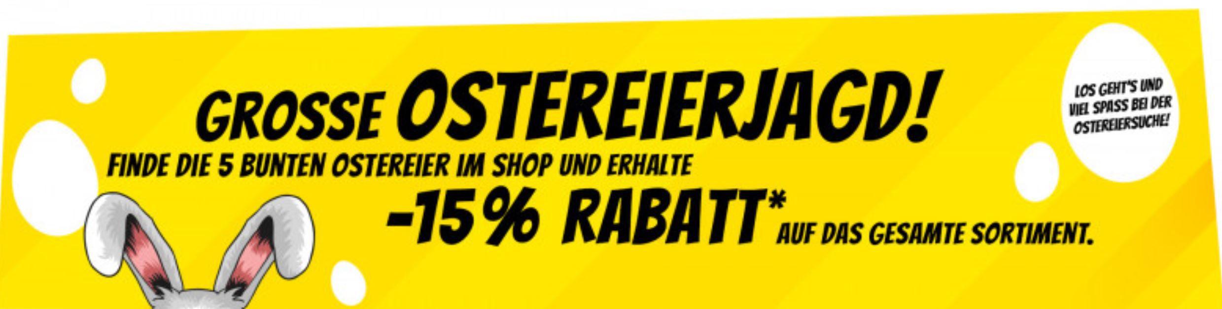 Endet heute: SportSpar Ostereier Jagd mit 15% Rabatt auf das komplette Sprtiment