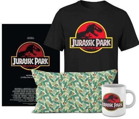 Jurassic Park Bundle aus T Shirt, Tasse, Poster & Kissen für 34,99€ (statt 45€)