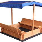 Verstellbarer Sandkasten mit Dach & Bank für 89,10€ (statt 100€)