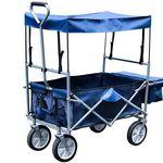 Faltbarer Bollerwagen mit Dach (bis 80kg) für 34,99€