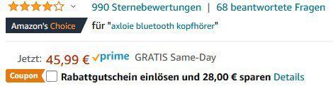 Axloie GOIN G2 BT 5.0 TWS InEars inkl. Ladecase für 17,99€ (statt 46€)