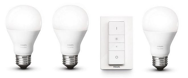 Philips Hue White Dimming Starter Kit 3 x 9,5W E27 + Dimmschalter ab 59,90€ (statt 72€)