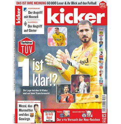 26 Ausgaben vom Kicker für 44,10€ + 15€ Scheck, SIGG Flasche oder Sporttasche