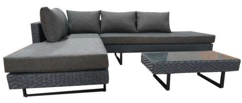 Bessagi Raffaela Lounge Garnitur mit Tisch für 414,20€  (statt 539€)