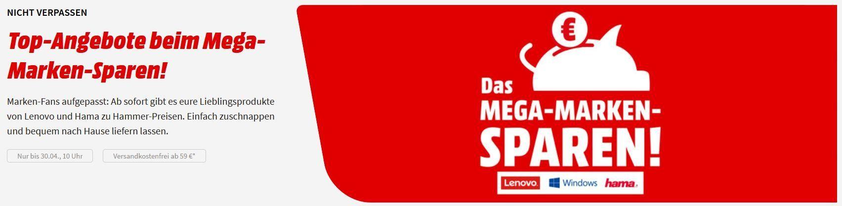 Media Markt Mega Marken Sparen: günstiges von Hama & Lenovo z.B. HAMA QI Ladegerät für 16€