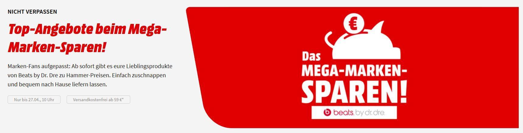Media Markt beats Kopfhörer 25% Aktion: z.B. BEATS Solo3 On ear Kopfhörer BT für 134,24€ (statt 169€)