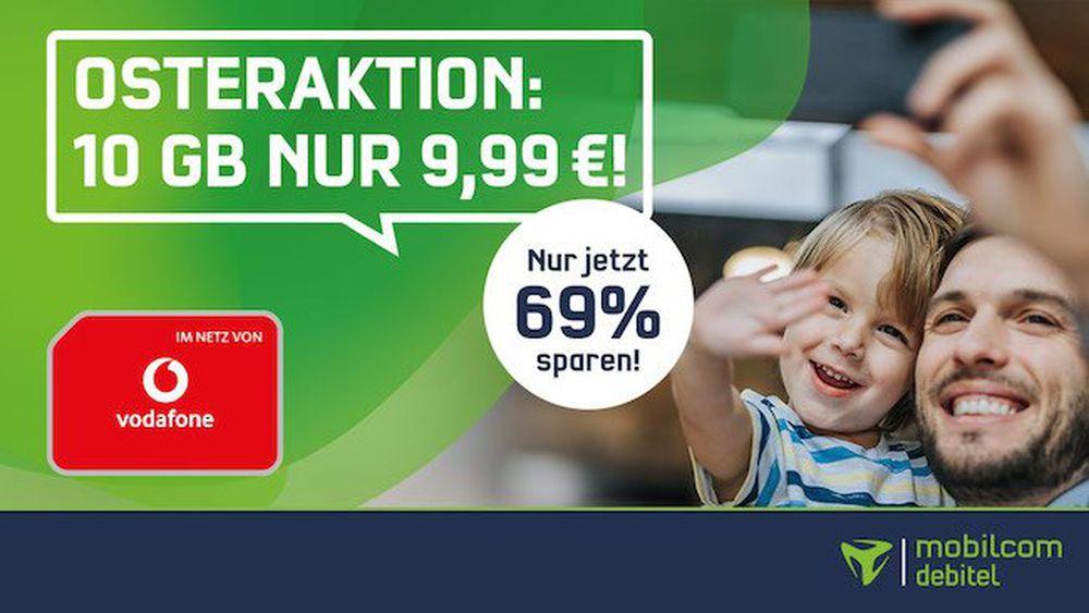 🔥 Vodafone Flat mit 10GB LTE für nur 9,99€mtl. + 4 Monate Deezer gratis