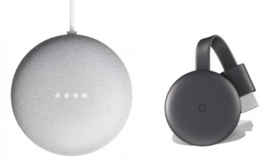 Vorbei 2 x Google Nest Mini + 2 x Google Chromecast 3 für 68€ (statt 166€)