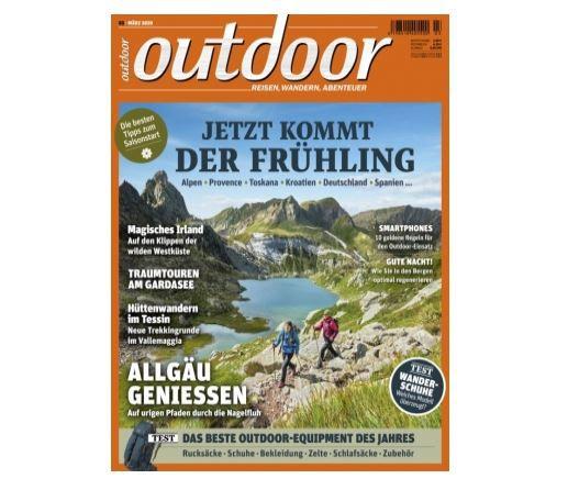 Jahresabo outdoor Magazin für 19,95€ (statt 70,80€)