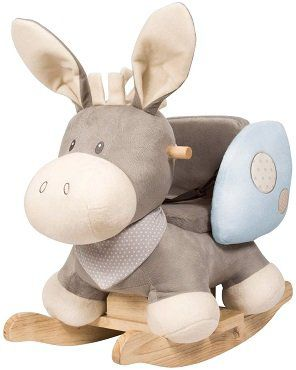 Nattou Schaukeltier Sitz Esel in grau für 74,99€ (statt 95€)