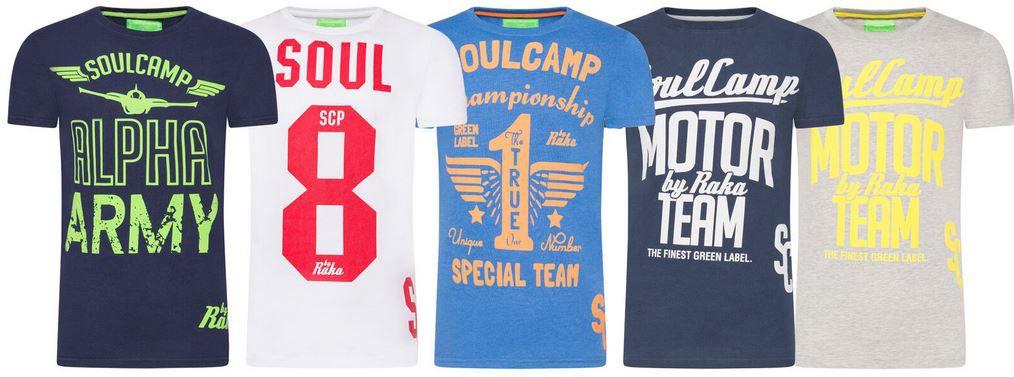 Soulcamp Herren T Shirts für je 9,95€ (statt 15€)