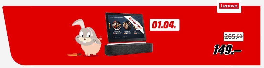 Ausverkauft! Lenovo TAB P10 Tablet (10,1, 3 GB, Android, inkl. Dockingstation) für 149€ (statt 259€)