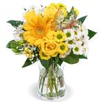 """Blumenstrauß """"Trendsetterin"""" mit Rosen, Gerbera, u.a. für 24,53€"""