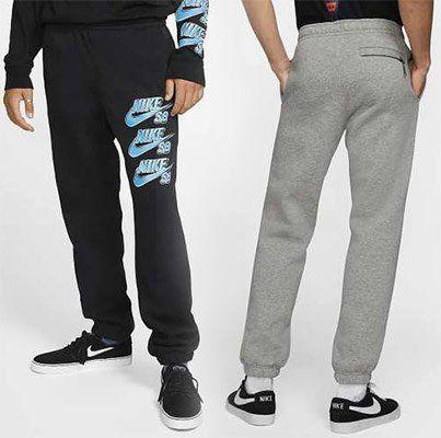 Nike SB Icon Fleece Jogginghose in Grau & Schwarz für je 23,08€ (statt 55€)