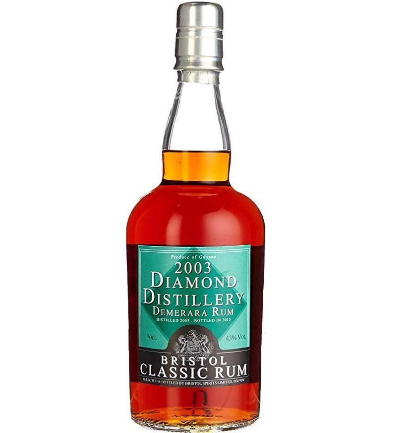 Vorbei! Bristol Diamond Guyana 2003/2015 Rum 0,7l Flasche für 55,99€ (statt 66€)